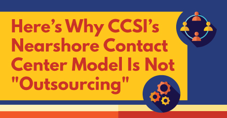 CCSI is not outsourcing Infographic
