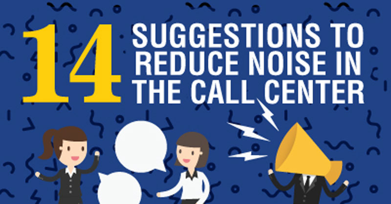 Reduce Noise Call Center Infographic